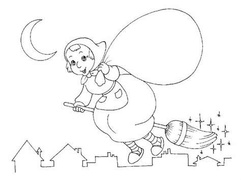 befana da stampare  colorare disegni  bambini