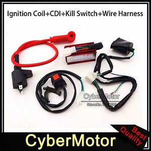 Engine Kill Stop Switch Racing Ignition Coil Ac Cdi Box