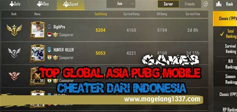 top global asia pubg mobile cheater  indonesia mnh blog