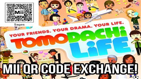 send   miis tomodachi life qr code exchange youtube