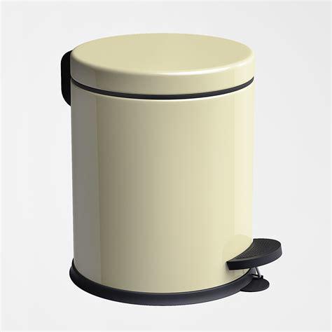 stainless steel  step trash bin cream pgi houseware