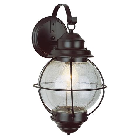 trans globe lighting 1 light outdoor black wall