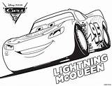 Coloring Cars Mcqueen Lightning sketch template