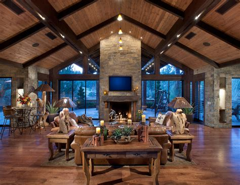 northern exposure great room rustic family room