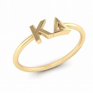 sorority letter disc ring from nava ny melissa39s custom With rings with letters on them