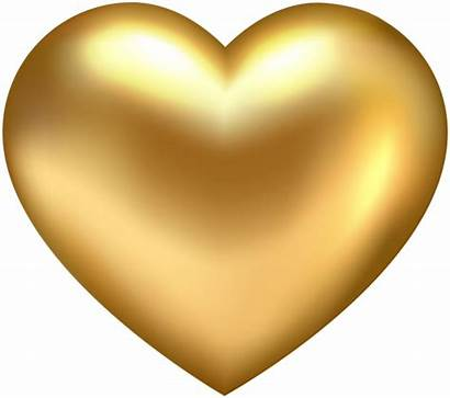 Heart Transparent Golden Clip Clipart Gold Hearts