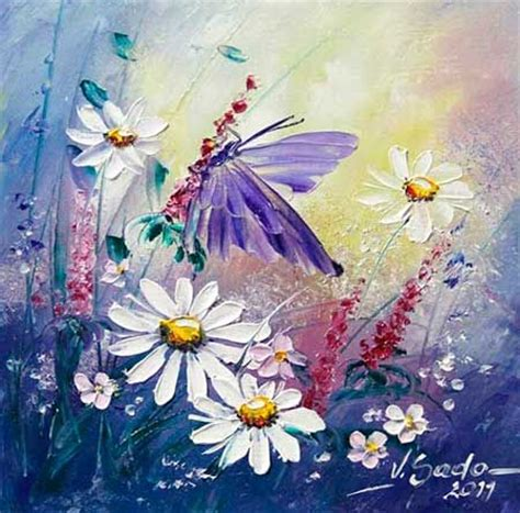 margaritas y mariposas sado pintura pinterest butterfly painting butterflies and art