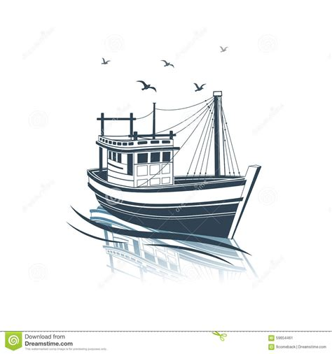 Deep Sea Fishing Boat Vector by Fishing Boat Stock Vector Illustration Of Industrial
