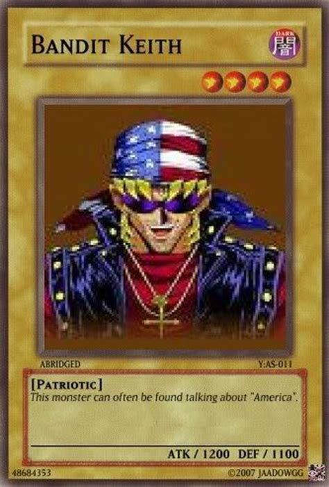 yugioh bandit keith starter deck can someone post an anime character that is not japaneses