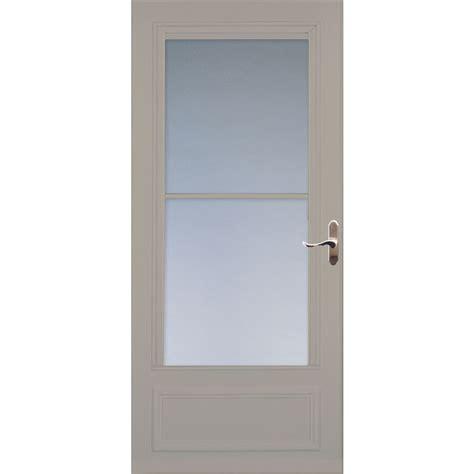 larson retractable screen door shop larson sandstone mid view wood