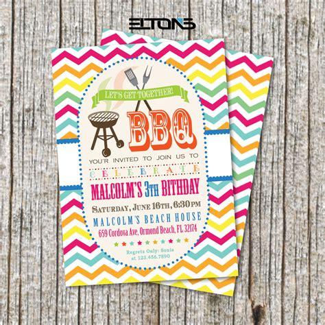birthday bbq bbq party invitation bbq birthday party invitation