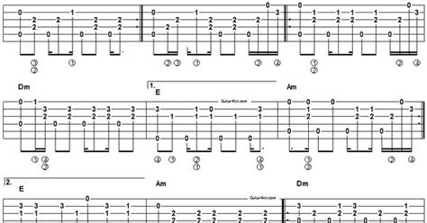 Acoustic Fingerstyle Guitar Tab
