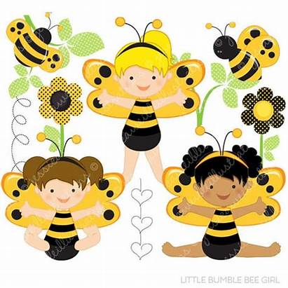 Bee Bumble Clipart Bumblebee Commercial Digital Personal