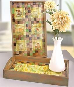 Basteln Mit Mosaiksteinen : efco freizeit holztablett mit mosaix und serviettentechn basteln mit ~ Whattoseeinmadrid.com Haus und Dekorationen