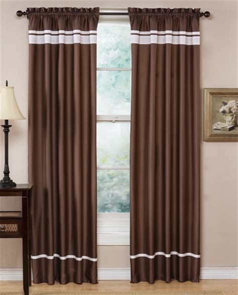 taupe and white spa collection window treatment set of 2