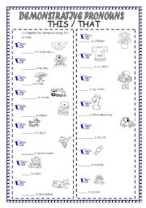 demonstrative pronouns esl worksheet by laninha