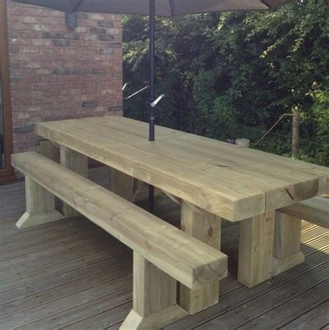 Wooden Sleepers by Solid Wooden Sleeper Outside Or Inside Table And Chairs