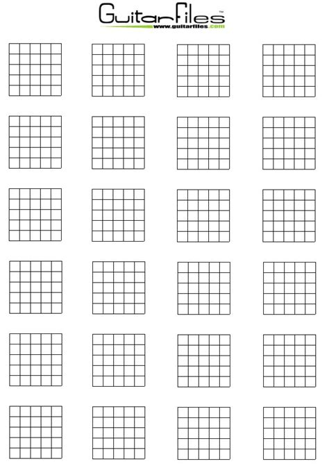 Blank Guitar Chord Diagrams Files