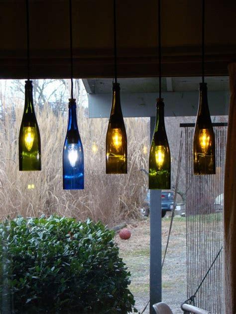 inexpensive creative diy wine bottle lighting ideas