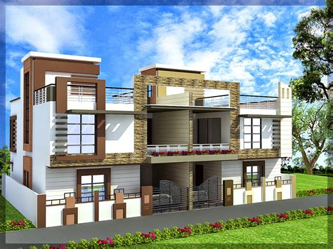 ghar planner leading house plan  house design drawings provider  india twin house design