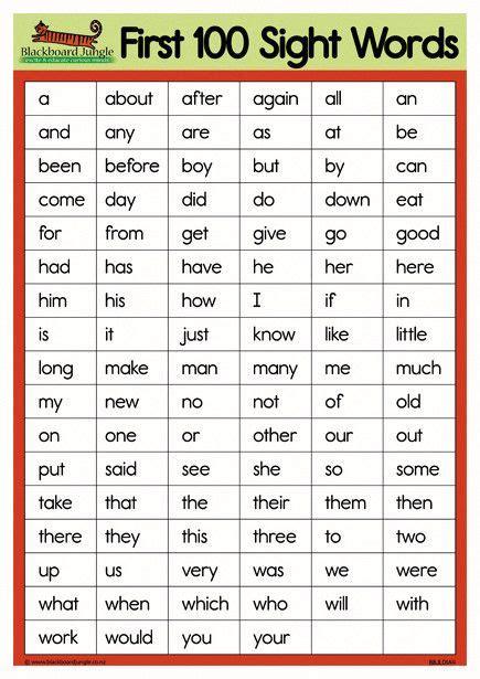 sight words  preschool sight words