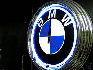 I bought a blue neon BMW clock for my bathroom pic