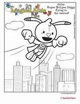 Attic Superhero Coloring Eclipse Magical Doggy Learning Early Teachervision sketch template