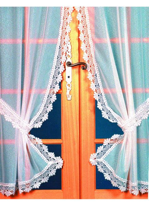 rideau bonne femme etamine bordure macram 233 e blanc homemaison vente en ligne petits