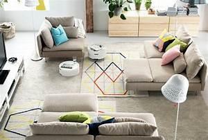ikea salon 50 idees de meubles exquises pour vous With tapis berbere avec canape ikea dehoussable