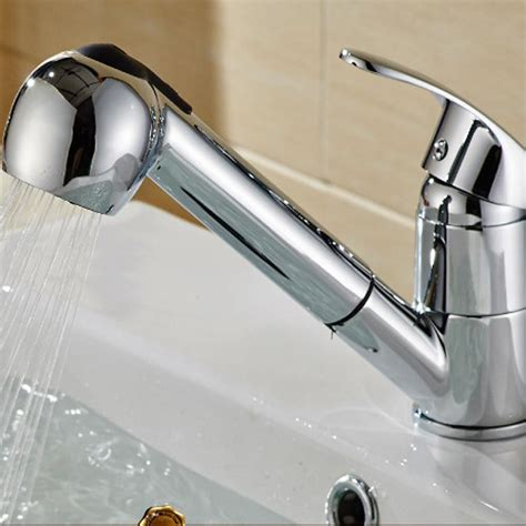single kitchen faucet with pull out spray pull single handle pull out sprayer shower kitchen