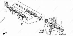 Honda Atv 2003 Oem Parts Diagram For Knuckle  Trx350fm  Fe