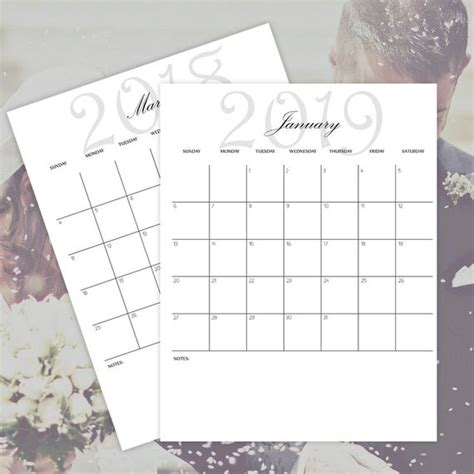 printable calendars     monthly