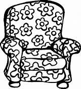 Coloring Chair Pages Colouring Furniture Armchair Clipart Fat Cats Printable Offbeat Floral Coloringbookfun Chairs Baby Cat Books Stuff Webstockreview sketch template