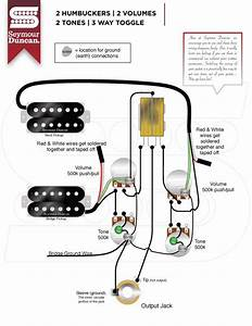 2 Humbucker 1 Volume 2 Tone Standard 5 Way Switch Wiring