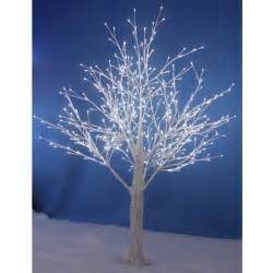 new white snowy twig tree white led lights xmas indoor outdoor garden decoration ebay