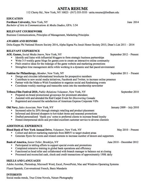 Interests On Resume For Bank Teller by The World S Catalog Of Ideas