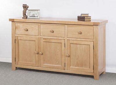 Chunky Oak Sideboard by Bristol Solid Wood Chunky Oak Large Sideboard Cupboard