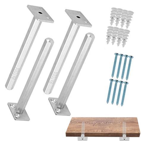 Floating Cabinet Brackets by Floating Shelf Bracket 4 Pcs Galvanized Steel Blind