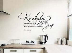 Wandtattoo Sprüche Küche : wandtattoo zitat kochen ist wie liebe w767 spr che zitate k che wandtattoos nach ~ Frokenaadalensverden.com Haus und Dekorationen