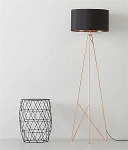 modern geometric tripod floor lamp with shade available in With contemporary copper floor lamp