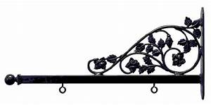 Art SignWorks Wrought Iron Scroll Brackets & Posts for Signs