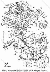 Yamaha Motorcycle 1985 Oem Parts Diagram For Air Cleaner