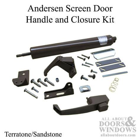andersen screen door handle screen door handle set and closer andersen terratone