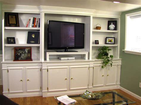 White Built In Entertainment Center  Car Interior Design