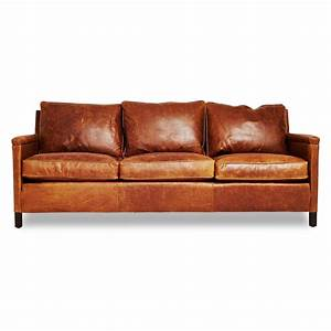 Sofa In Cognac : the heston gives an urban edge to the classic leather sofa featuring a cognac hued exterior ~ Indierocktalk.com Haus und Dekorationen