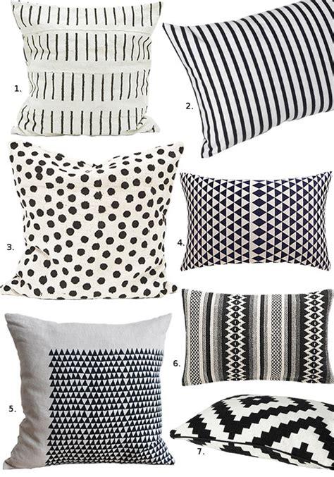 black and white pillows black white pillows design sponge