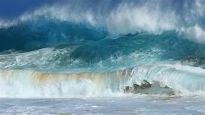 Crashing Waves, Sandy Beach, Hawaii Stock Image - Image of ...