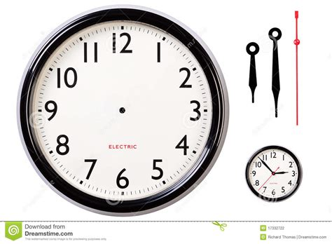 blank clock face  hands stock photo image  numbers
