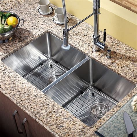 double bowl stainless steel hand  undermount