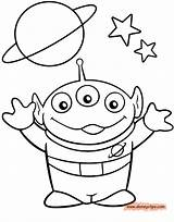 Alien Coloring Toy Story Pages Sheets Drawn Printable Drawing Disney Drawings Toys Characters Boy Colouring Template Head Line Disneyclips Easy sketch template